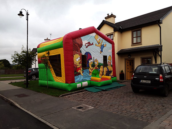 The Simpsons Kerry Bouncy Castles